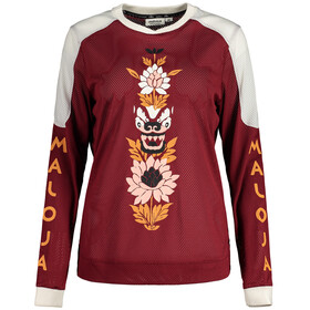 Maloja ScutellaM. Longsleeve Freeride Jersey Dames, red monk